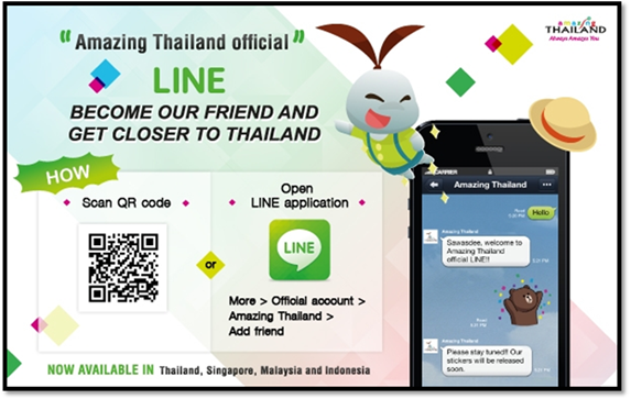 Another campaign between Line and Tourism Authority of Thailand