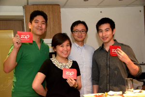 From L-R: Justin Lim, Angelique Uy, Terence Lok, Dustin Cheng