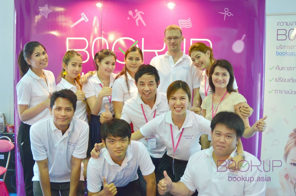Bookup's team. Elena is on the right side