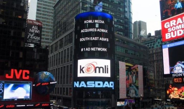 Komli was to run a big ad in New York when they were aqquiring AdMax