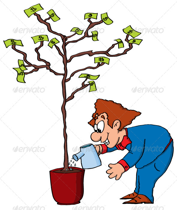 money-make-bissnes-indystry-cartoon-men-tree-vector-color-grow-funny-comic-character-cash-lot-green--01